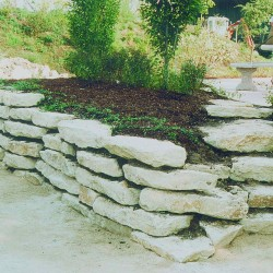 Mauerplatten, und Trittplatten, polygonal