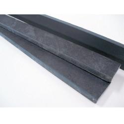 Sockelleisten - Schiefer graphit schwarz