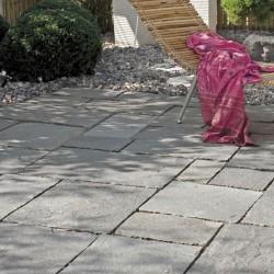 Bodenplatten im wilden Verband - Hellas Quarzit