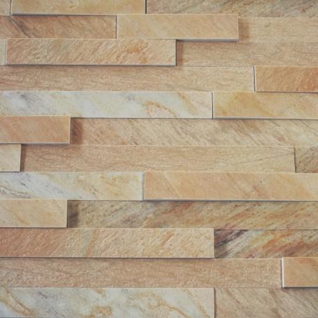 Verblendmauerstein - Quarzit Rio Dorado gelb -Typ M