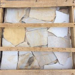 Polygonalplatten, Quarzit, Rio Dorado, gelb