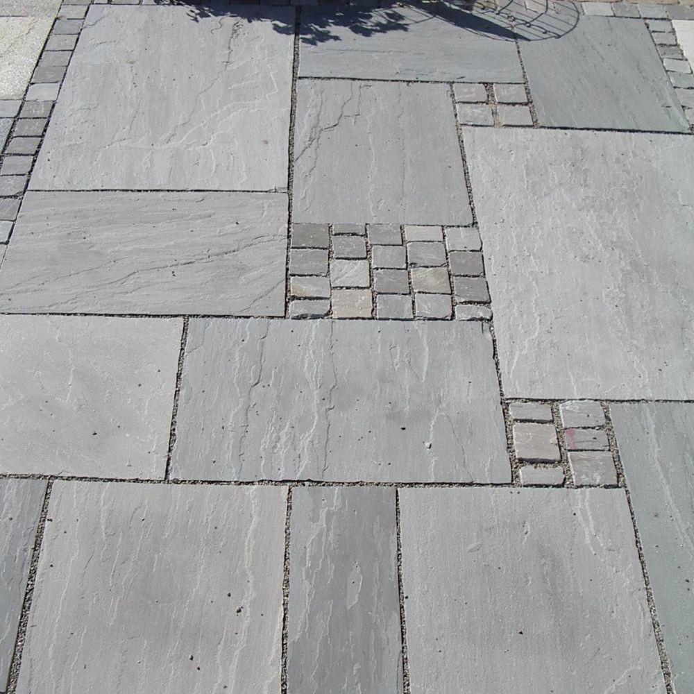 Bodenplatten Sandstein Bundy Grey