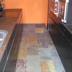 Schiefer Bodenplatten Multicolor