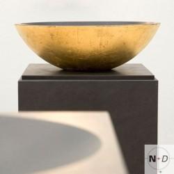 Goldene Schale, auf, Naturstein, Schubladenkorpus
